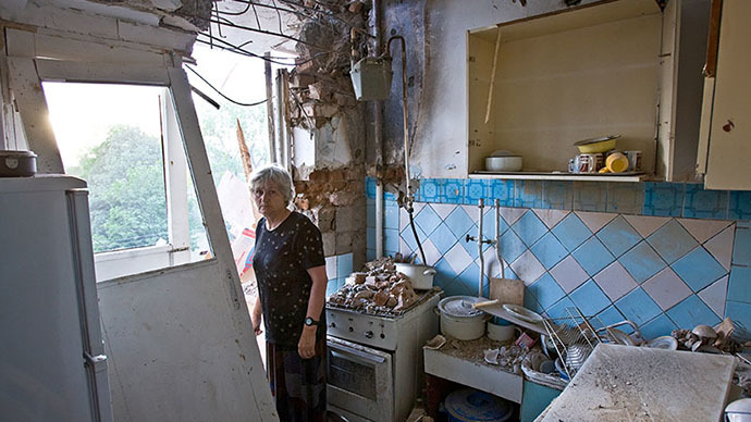 Aftermath of the armed hostilities in Tskhinvali, South Ossetia, 2008 (RIA Novosti / Maksim Avdeev)