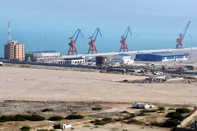 "A view of the Beijing-funded ""megaport"" of Gwadar, in southwestern Pakistan (AFP Photo)"