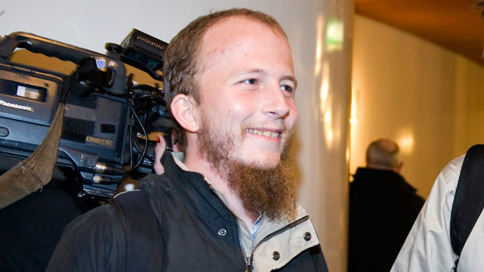 Gottfrid Svartholm Warg, the co-founder of Pirate bay, is pictured in Stockholm.(Reuters / Scanpix Sweden)