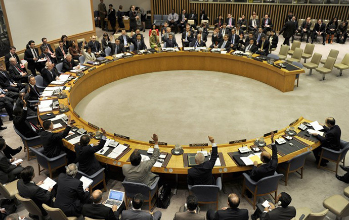 Members of the United Nations Security Council (AFP Photo / Timothy A. Clary)
