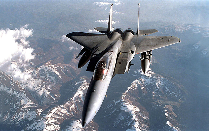 A US F-15C Eagle flies a mission over Yugoslavia 08 April 1999. (AFP Photo / US Air Force)