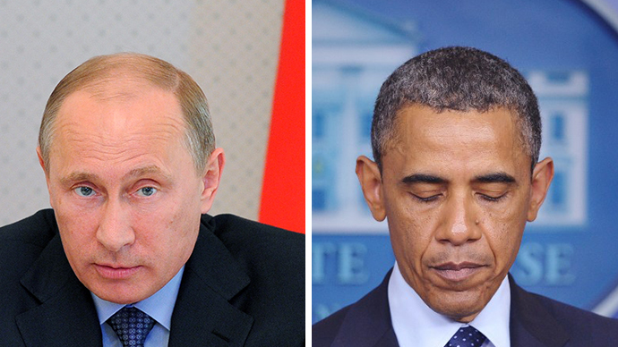 Russian President Vladimir Putin and  US President Barack Obama (RIA Novosti / Michael Klimentyev; AFP Photo / Mandel Ngan)