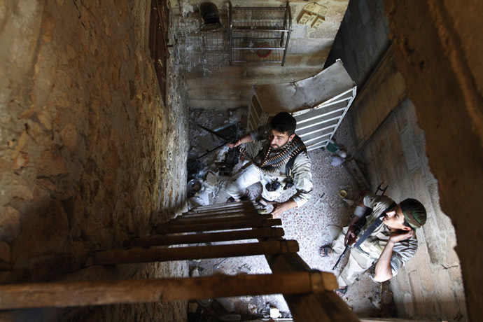 Free Syrian Army fighters (Reuters/Hamid Khatib)