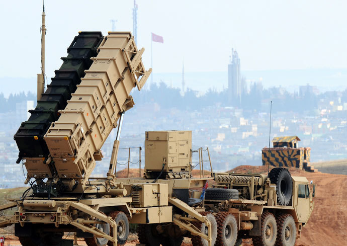 A Patriot missile launcher system is pictured at a Turkish military base in Gaziantep on February 5, 2013.(AFP Photo / Bulent Kilic)