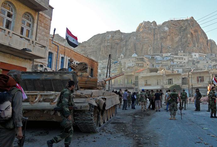 Maalula, a historic Christian town near Damascus, Syria (AFP Photo)