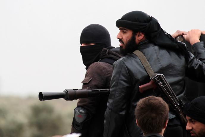 Fighters of the jihadist group Al-Nusra Front (AFP Photo)