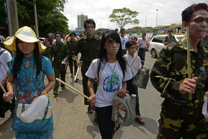 Yangon, Myanmar (AFP Photo / Ye Aung Thu)