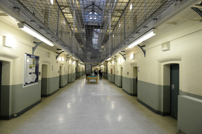 A general view shows C wing at Wormwood Scrubs prison in London (Reuters/Paul Hackett)