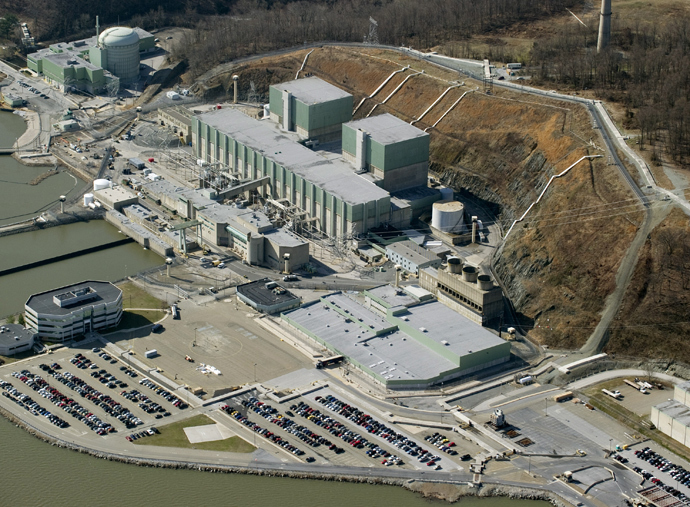 An aerial view of the Peach Bottom Atomic Power Station, a nuclear power plant in Delta, Pennsylvania (AFP Photo / Stan Honda)