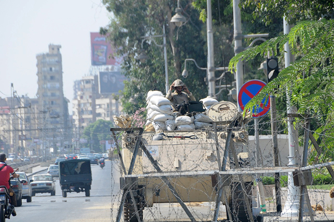 Egypt — weapons against the weapons (Photo by Andre Vltchek)