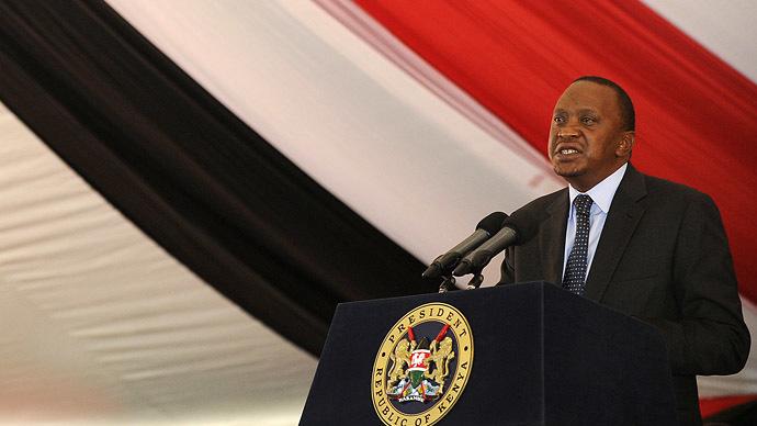 Kenya's President Uhuru Kenyatta (AFP Photo/Simon Maina)