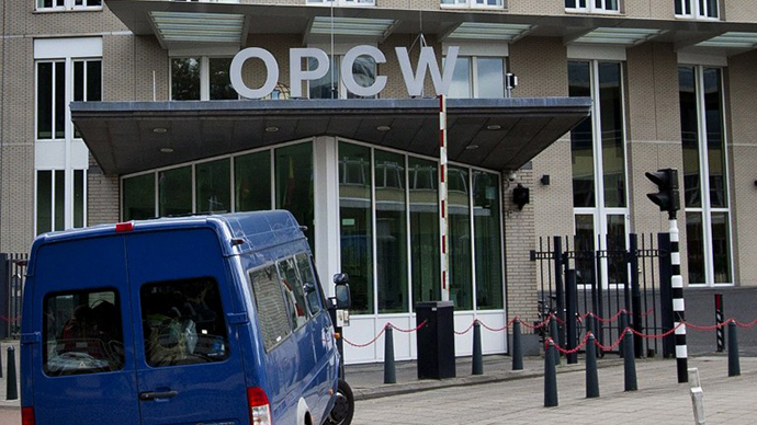 The headquarters of the Organization for the Prohibition of Chemical Weapons (OPCW). (AFP Photo / Guus Schoonewille)