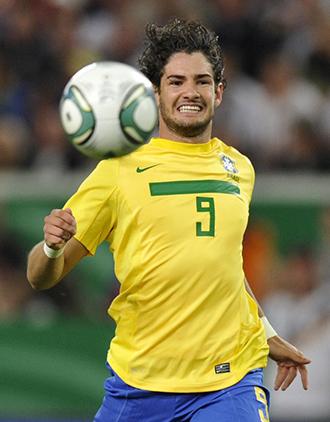 Brazil's forward Alexandre Pato (AFP Photo / Thomas Kienzle)