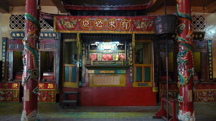 Ancient Chinese puppet theater in Surabaya. Photo by Andre Vltchek