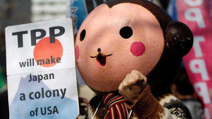 TPP draft: United States reasserts its role as a world's schoolyard bully