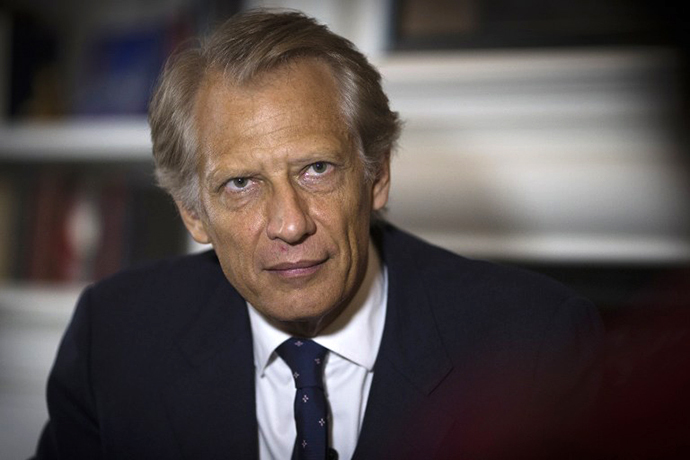 France's former Prime Minister Dominique de Villepin (AFP Photo / Joel Saget)