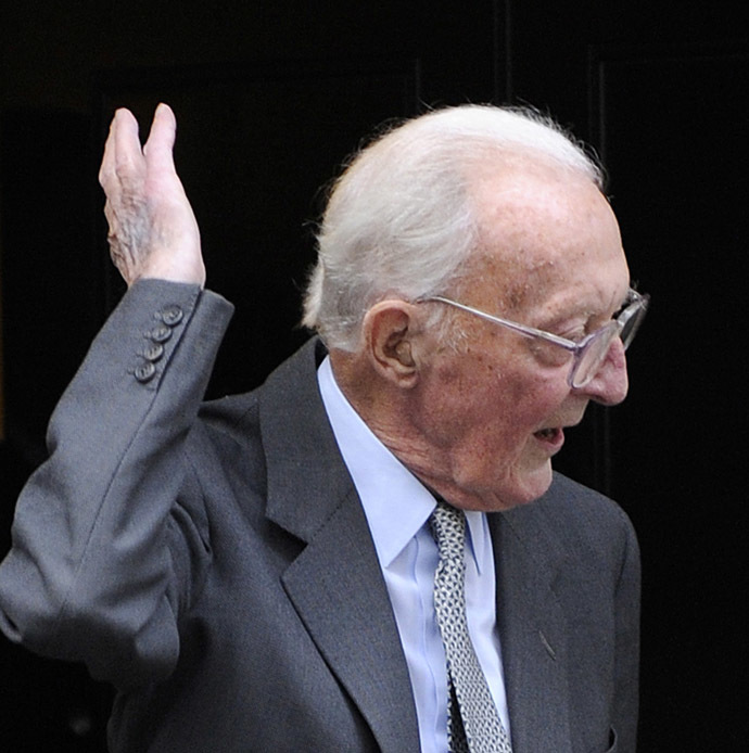 Britain's former Foreign Secretary Lord Peter Carrington (Reuters)