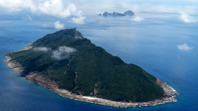 This aerial shot taken on September 15, 2010 shows the disputed islands known as Senkaku in Japan and Diaoyu in China in the East China Sea. (AFP Photo / Jiji Press)