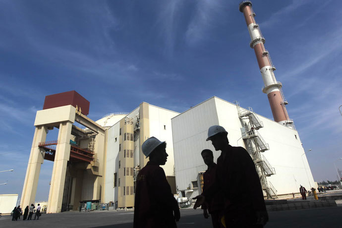 The reactor building at the Russian-built Bushehr nuclear power plant, 1200 kms south of Tehran.(AFP Photo / Majid Asgaripour)