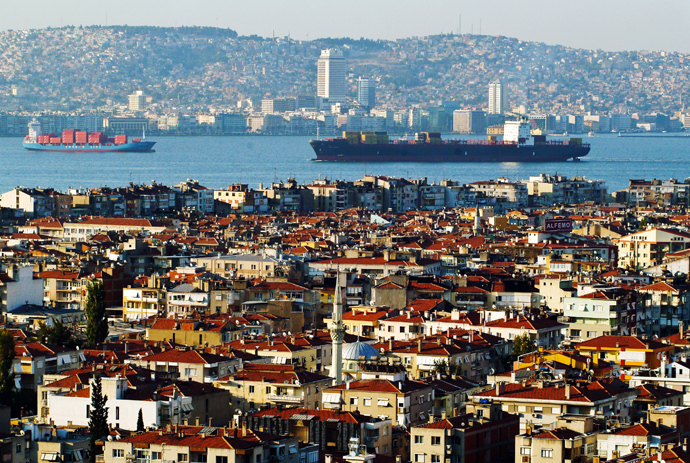 Gulf of Izmir, formerly known as the Gulf of Smyrna, on the Aegean Sea in the Turkish city of Izmir (AFP Photo)