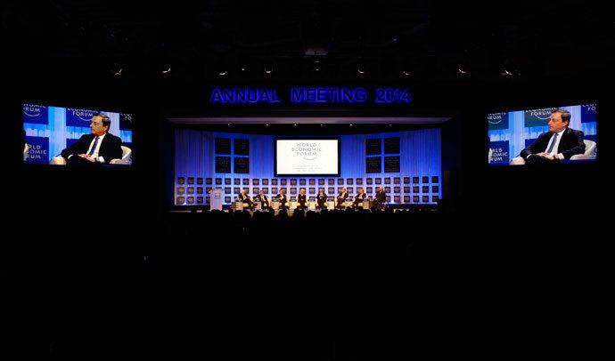 World Economic Forum (WEF) in Davos January 25, 2014.(Reuters / Ruben Sprich)
