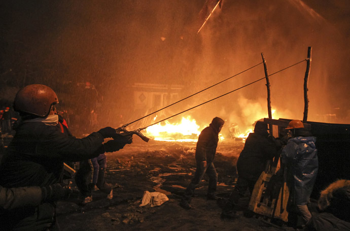 Kiev, January 23, 2014. (Reuters/Valentyn Ogirenko)