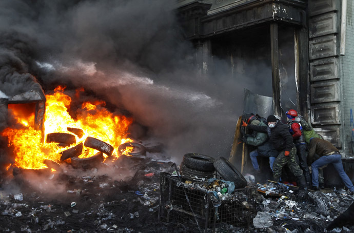 Kiev, January 23, 2014. (Reuters/Vasily Fedosenko)