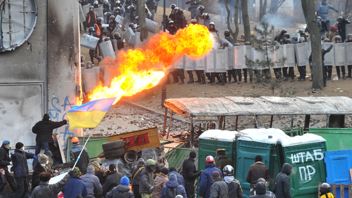 'Ukraine police show incredible restraint, US officers would respond with deadly force'