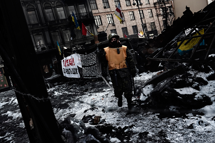 Kiev on February 3, 2014. (AFP Photo / Aris Messinis)