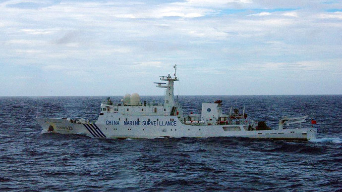 Chinese marine surveillance ship cruising near the disputed islets known as the Senkaku islands in Japan and Diaoyu islands in China, in the East China Sea.(AFP Photo / Japan Coast Guard)