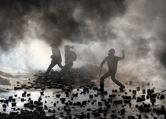 Kiev, February 18, 2013. (AFP Photo / Anatoli Stepanov)