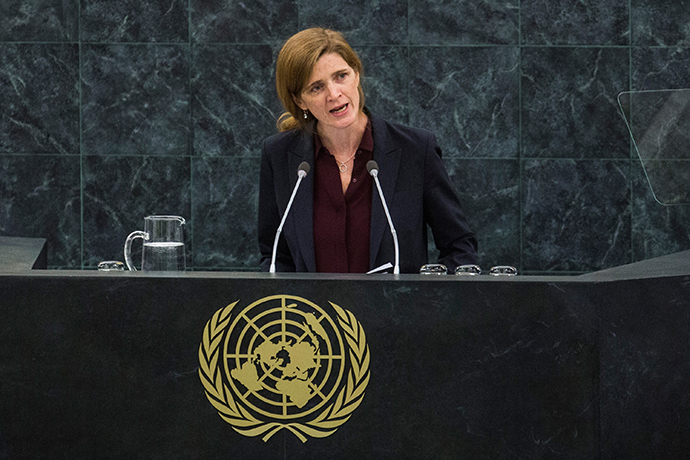 United States Ambassador to the United Nations Samantha Power (AFP Photo / Andrew Burton)