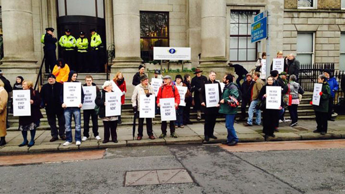 Protests continue over use of Shannon Airport in Ireland