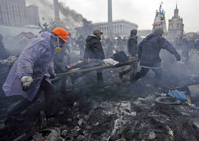 Independence Square in Kiev February 20, 2014. (Reuters)