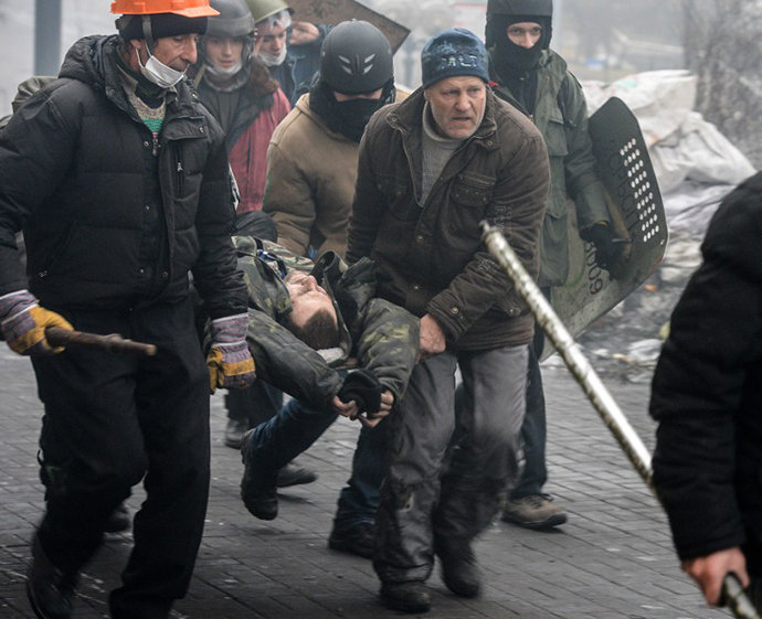 Kiev on February 20, 2014. (AFP Photo / Dmitry Serebryakov)