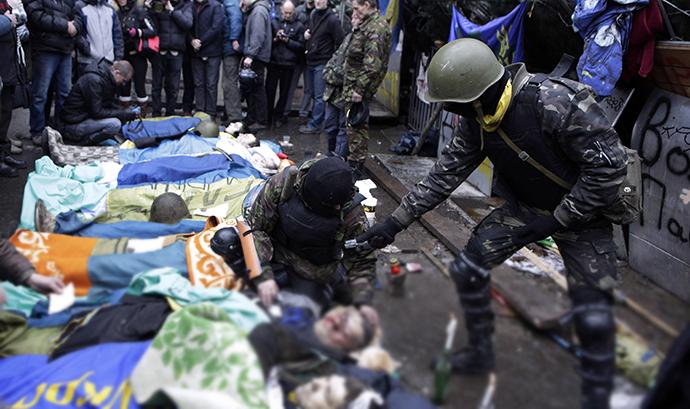 Kiev, February 20, 2014 (AFP Photo / Alexander Chekmenev)