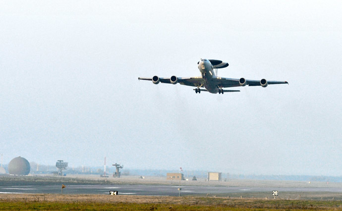 Air force Airborne Warning and Control System (AWACS) plane (AFP Photo)