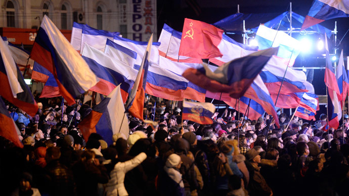 'Crimean referendum is democracy in action'