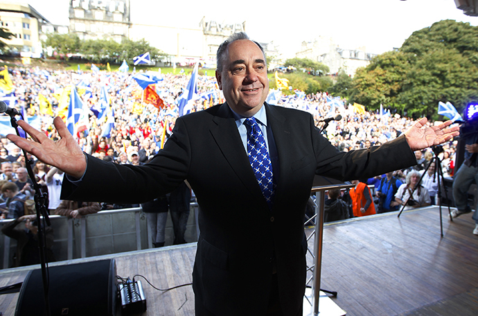 Scotland's First Minister and leader of the Scottish National Party, Alex Salmond (Reuters / David Moir)