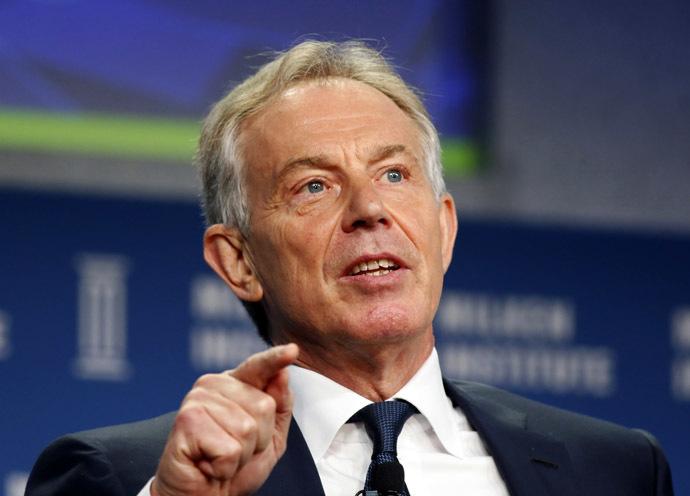 Former British Prime Minister Tony Blair (Reuters)