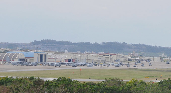 Futenma air base in Okinawa (Image by Andre Vltchek)