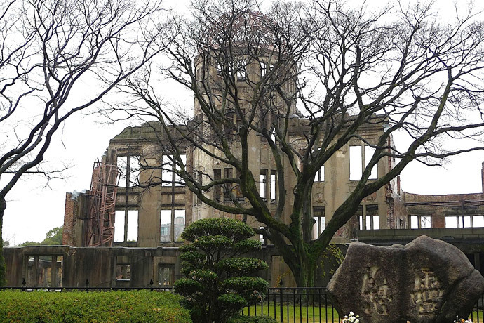 Hiroshima Atomic Dome in the rain (Image by Andre Vltchek)