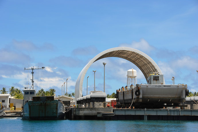 US Star Wars base on Kwajalein, Marshall Islands. (Image by Andre Vltchek)