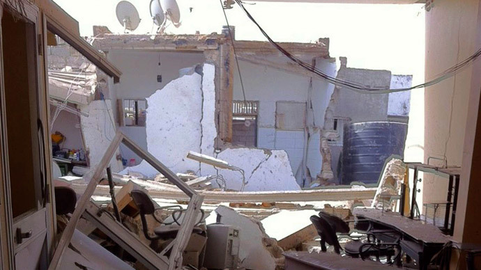 A view of the damage caused after explosions that took place at midnight, in the Salaheddin district of Tripoli May 21, 2014.(Reuters / Ismail Zitouny)