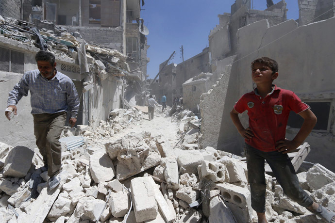 Aleppo May 17, 2014. (Reuters/Aref Haj Youssef)