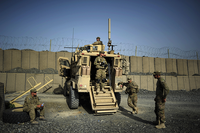 Soldiers of the 1st platoon Comanche Company of the United States Army (AFP Photo)