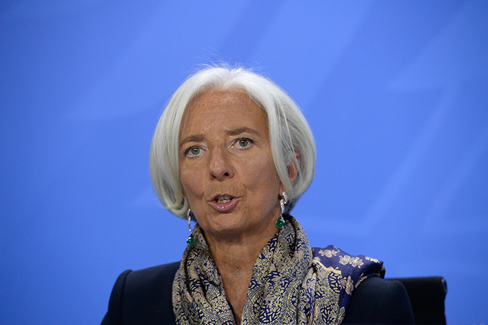 International Monetary Fund chief Christine Lagarde (AFP Photo)