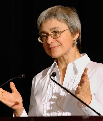 Anna Politkovskaya.(AFP Photo / Stan Honda)