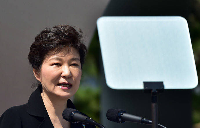 South Korean President Park Geun-Hye (AFP Photo / Pool / Jung Yeon-Je)