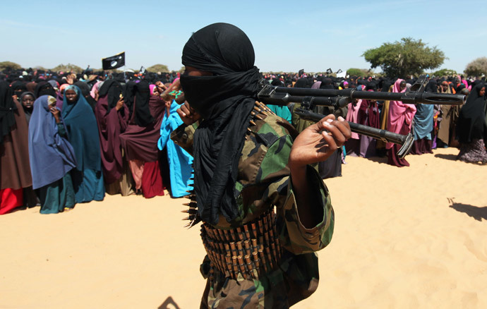 A Somali Al-Shebab fighter (AFP Photo / Mohamed Abdiwahab)
